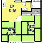 浅香ハイツ101・202号室♪(間取)